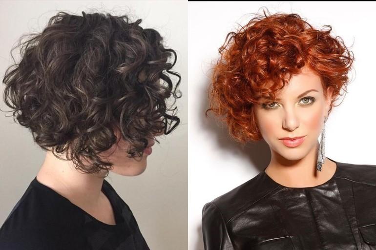 Женские стрижки на вьющиеся волосы