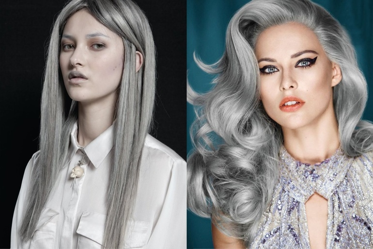 Смена имиджа на пепельный цвет волос