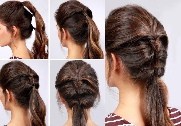 50 идей как сделать универсальную и практичную причёску