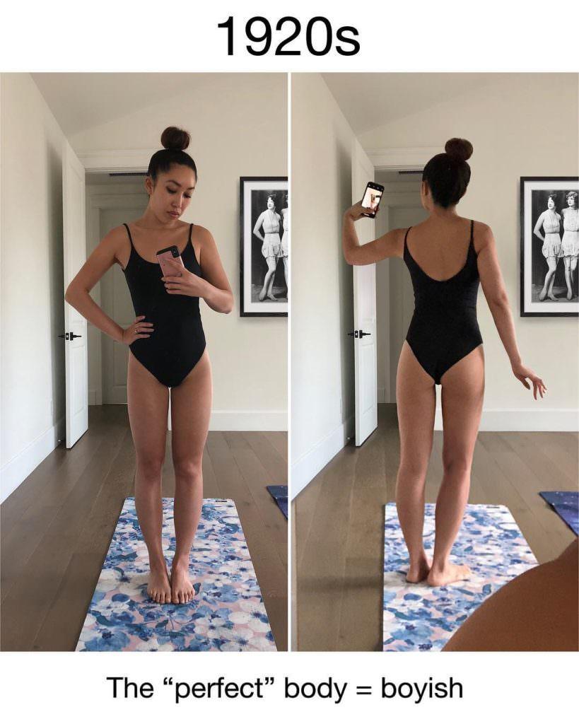 Девушка-блогер экспериментирует со своей фигурой