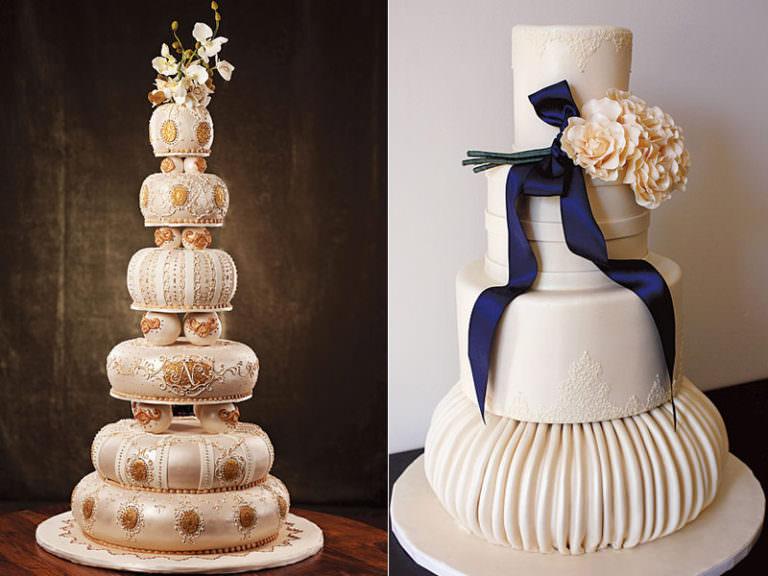 Подборка необычных свадебных тортов