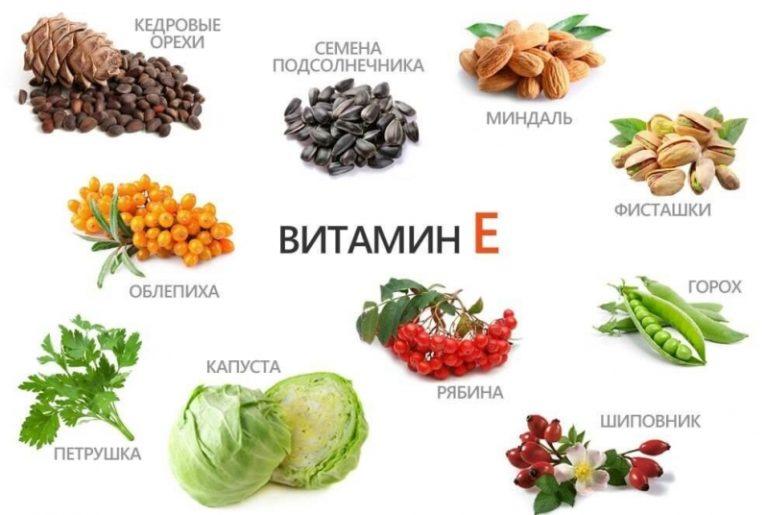 Витамины а е в продуктах