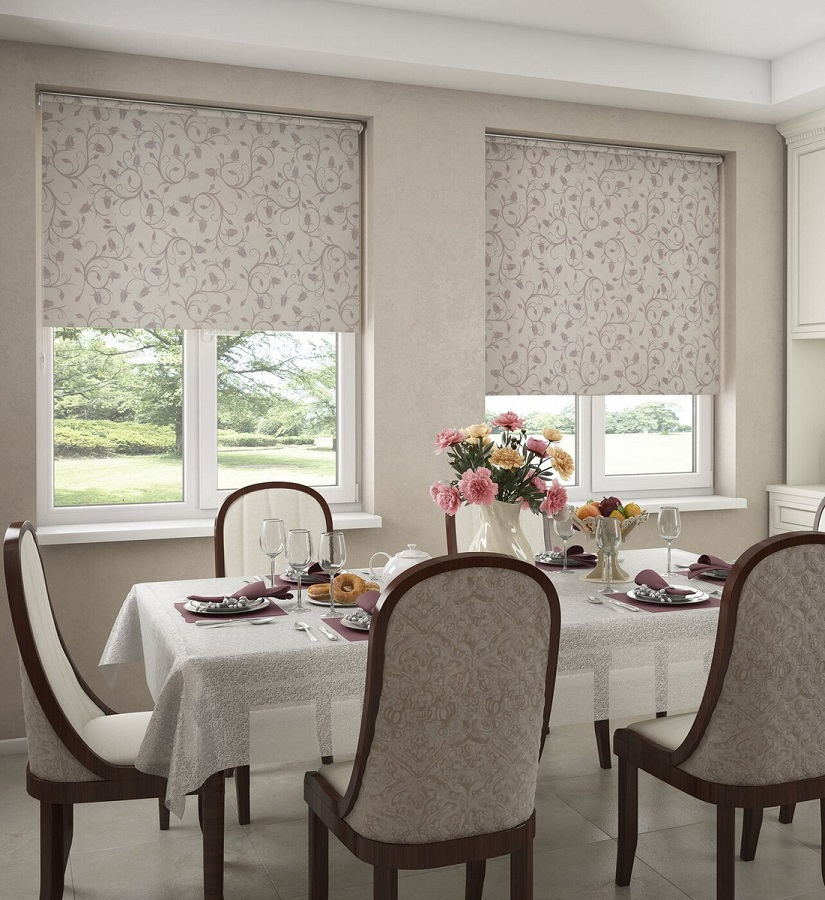 Как выбрать рулонные шторы и жалюзи для интерьера в стиле Прованс
